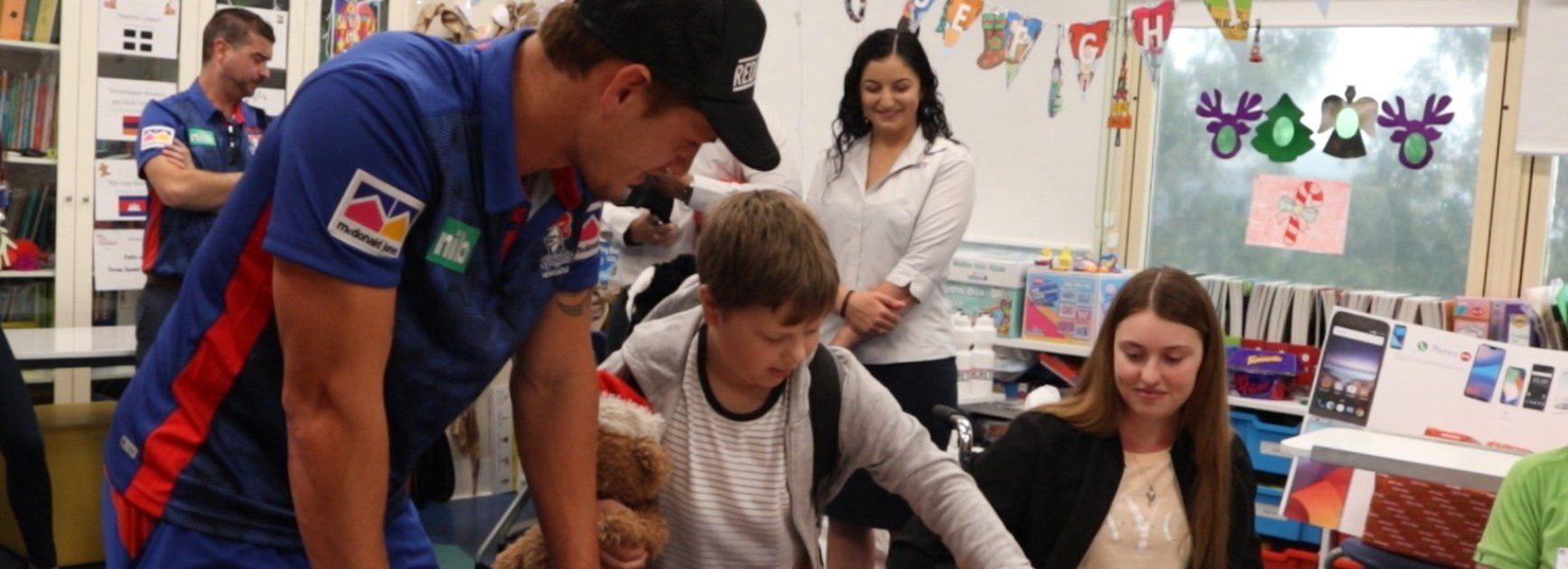 Ponga puts smiles on faces at Children's hospital