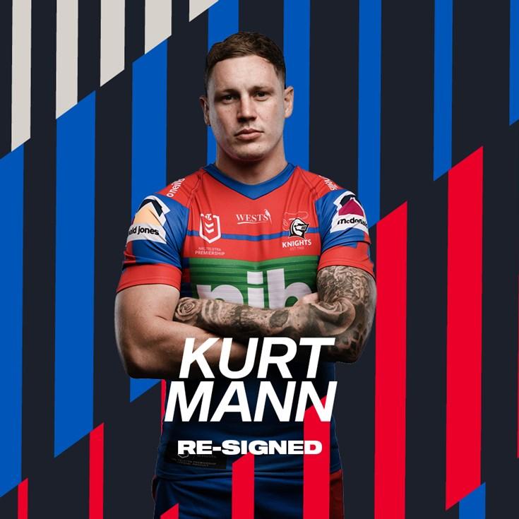 Kurt Mann inks two-year Knights extension