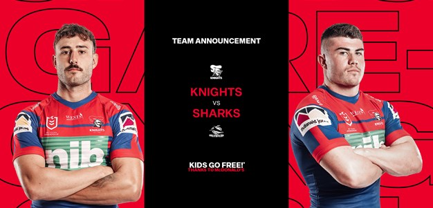 Knights v Sharks Round 6 NRL team list