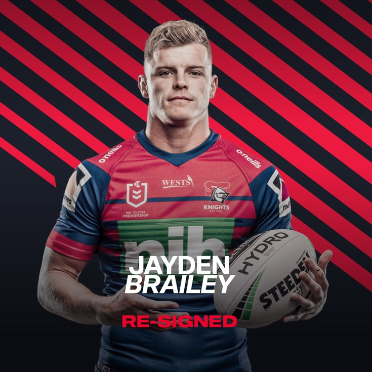 Jayden Brailey to stay at Newcastle Knights