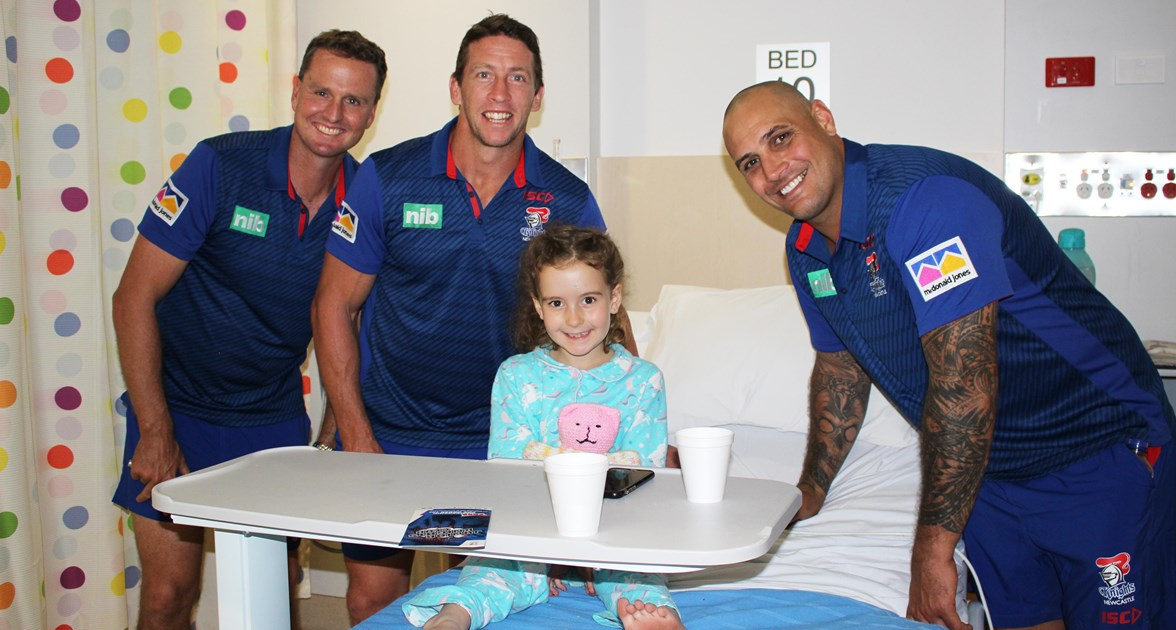 Knights visit Ronald McDonald House Tamworth