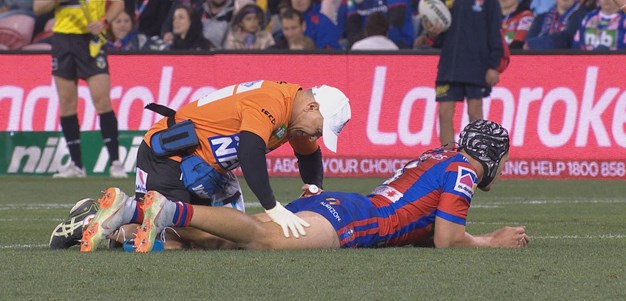 Ponga limps off with hamstring injury