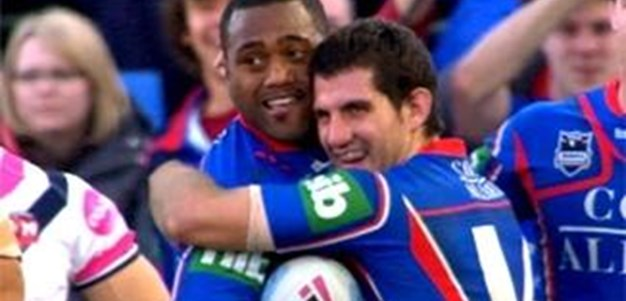 Knights v Roosters Rd16 2011