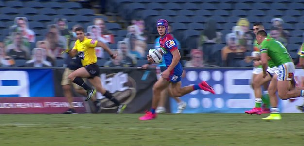 Watch: Sizzling Ponga carves through the middle