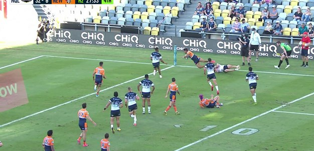 Watch: Quick pass from Ponga puts away Hunt