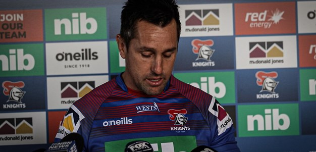 Watch: Mitchell Pearce addresses the media