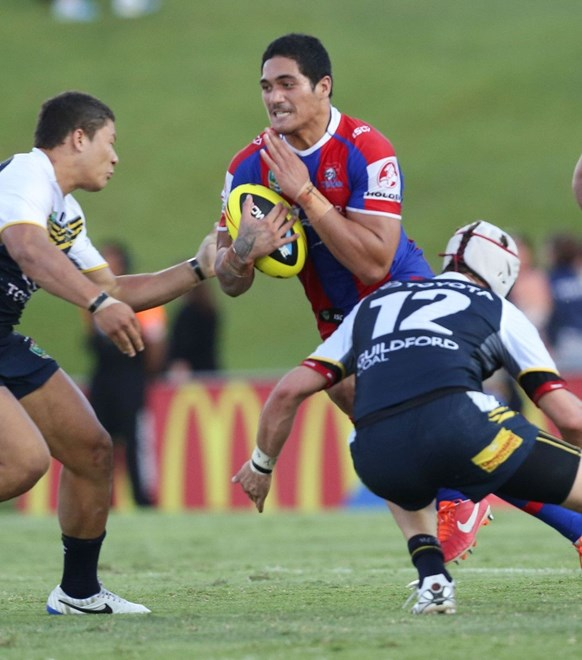 NYC Newcastle Knights v NQ Cowboys at Townsville. 07/04/2014. Photo: Michael Chambers for Melba Studios.