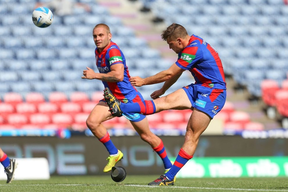 Competition - Intrust Super Premiership Round - Round 03 Teams - Newcastle Knights V Mounties - 19th of March 2016 Venue - Hunter Stadium, Broadmeadow, Newcastle NSW Photographer - Paul Barkley