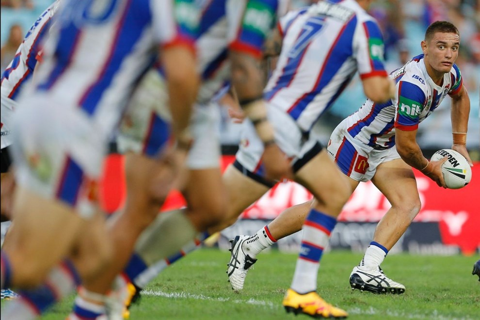 Danny Levi Competition - NRL Premiership Round - Round 02 Teams - South Sydney Rabbitohs V Newcastle Knights Date - 12th of March 2016 Venue - ANZ Stadium, Homebush, Sydney NSW Photographer - Paul Barkley