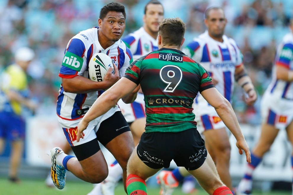 Sam Mataora Competition - NRL Premiership Round - Round 02 Teams - South Sydney Rabbitohs V Newcastle Knights Date - 12th of March 2016 Venue - ANZ Stadium, Homebush, Sydney NSW Photographer - Paul Barkley
