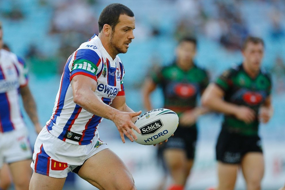 Jarrod Mullen Competition - NRL Premiership Round - Round 02 Teams - South Sydney Rabbitohs V Newcastle Knights Date - 12th of March 2016 Venue - ANZ Stadium, Homebush, Sydney NSW Photographer - Paul Barkley