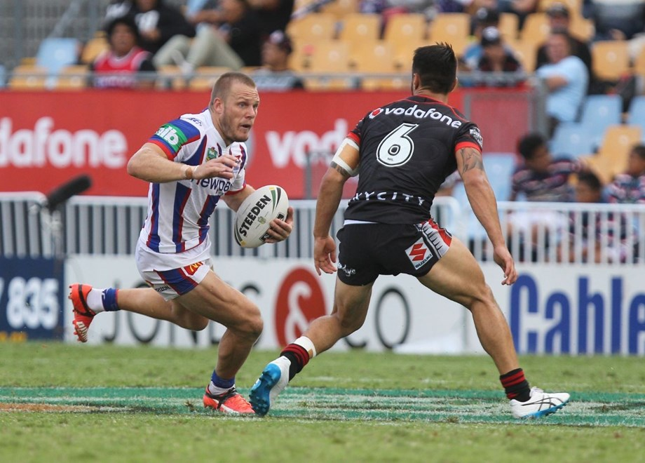 Competition - NRL Premiership Round - Round 04 Teams – NZ Warriors v Newcastle Knights Date – 28th of March 2016 Venue – Mt Smart Stadium, Auckland, NZ Photographer – Ben Campbell