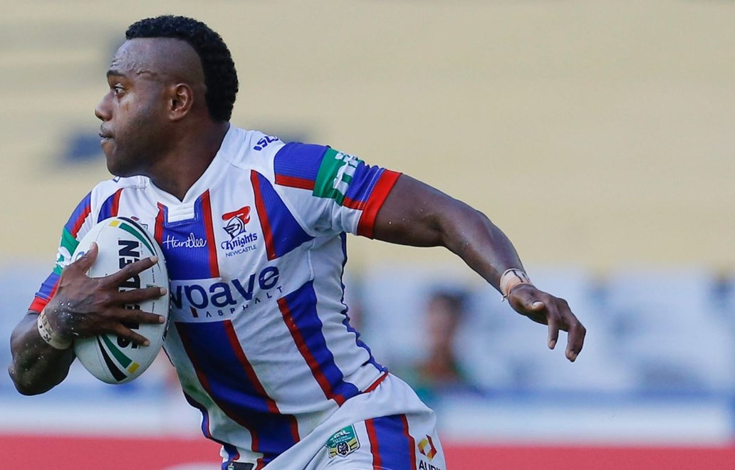 Akuila Uate Competition - NRL Premiership Round - Round 02 Teams - South Sydney Rabbitohs V Newcastle Knights Date - 12th of March 2016 Venue - ANZ Stadium, Homebush, Sydney NSW Photographer - Paul Barkley