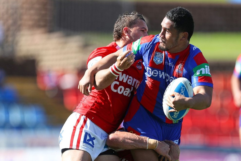 Competition - Intrust Super Premiership. Round - Round 10. Teams - Newcastle Knights v Illawarra Cutters. Date - 15th of May 2016. Venue - Hunter Stadium, Broadmeadow NSW. Photographer - Paul Barkley.