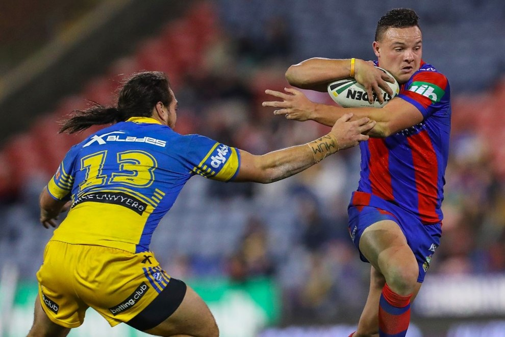 Competition - NRL Premiership Round. Round - Round 12. Teams - Newcastle Knights v Parramatta Eels. Date - 30th of May 2016. Venue - Hunter Stadium, Broadmeadow NSW. Photographer - Paul Barkley.