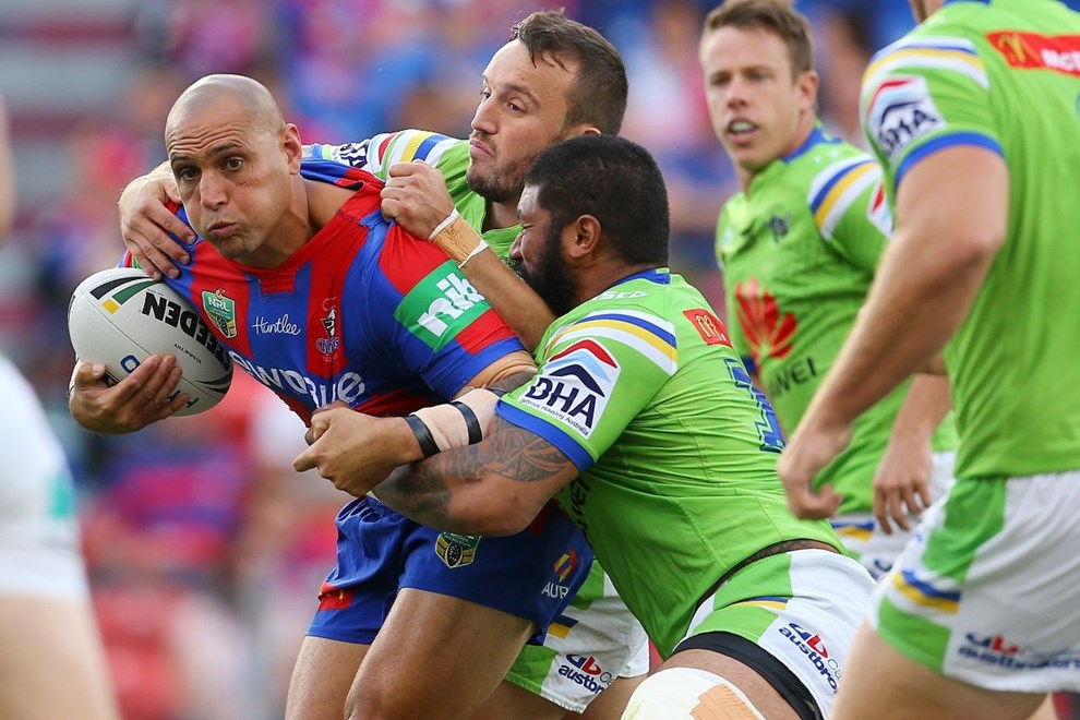 Jeremey Smith Competition - NRL Premiership Round - Round 03 Teams - Newcastle Knights V Canberra Raiders - 19th of March 2016 Venue - Hunter Stadium, Broadmeadow, Newcastle NSW Photographer - Paul Barkley