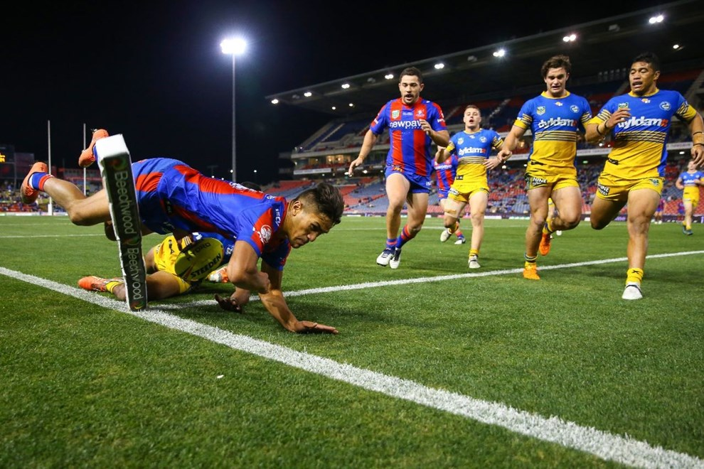 Competition - NYC Premiership Round. Round - Round 12. Teams - Newcastle Knights v Parramatta Eels. Date - 30th of May 2016. Venue - Hunter Stadium, Broadmeadow NSW. Photographer - Paul Barkley.
