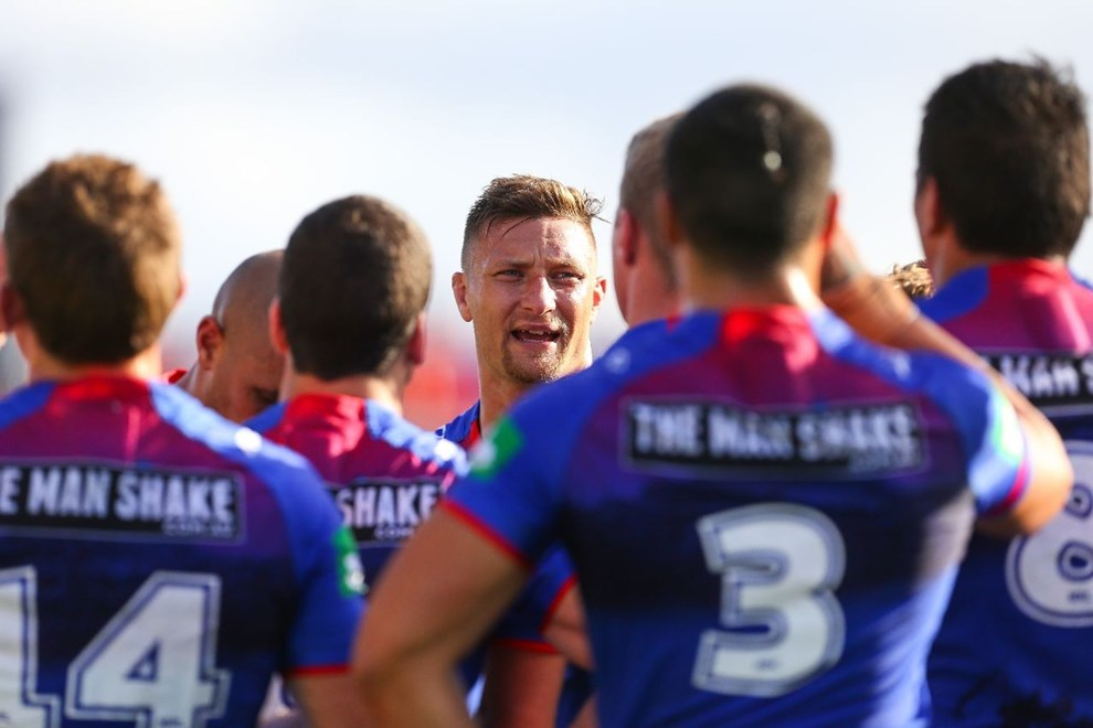 Competition - NRL Premiership Round - Round 08 Teams - Newcastle Knights v Manly Sea Eagles - 25th of April 2016 Venue - Hunter Stadium, Broadmeadow, NSW, Photographer - Paul Barkley