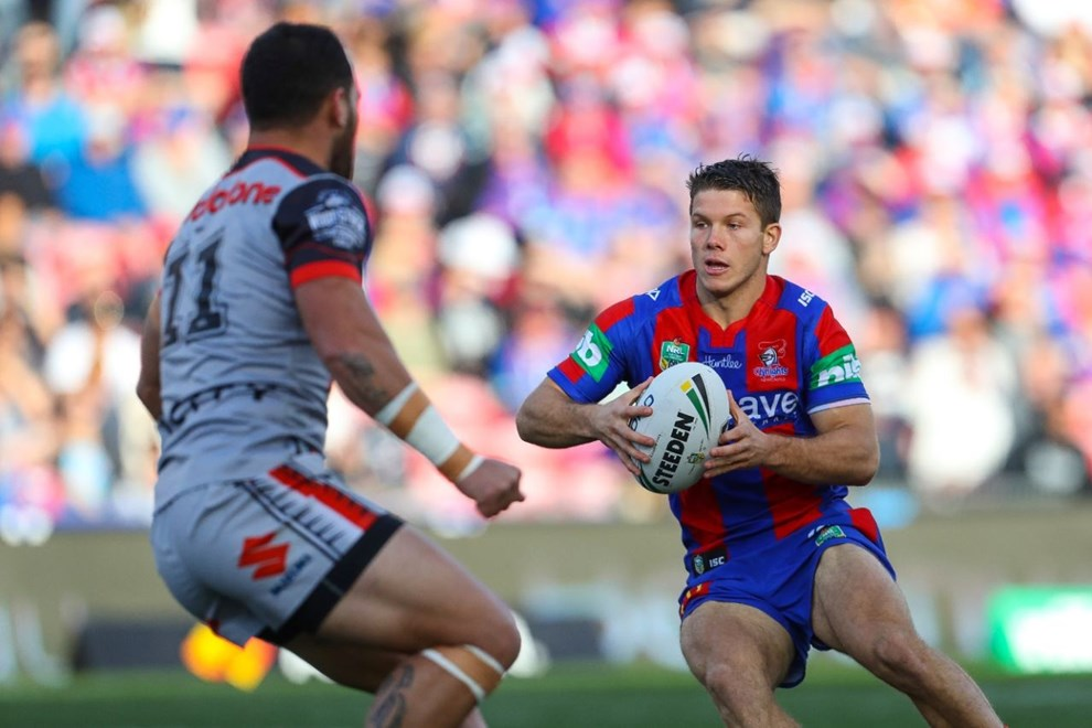 Competition - NRL Premiership Round. Round - Round 14. Teams - Newcastle Knights v New Zealand Warriors. Date - 11th of June 2016. Venue - Hunter Stadium, Broadmeadow NSW. Photographer - Paul Barkley.