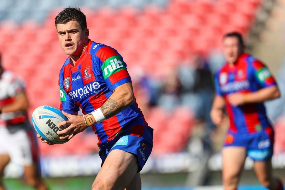 Competition - Intrust Super Premiership. Round - Round 13. Teams - Newcastle Knights v New Zealand Warriors. Date - 11th of May 2016. Venue - Hunter Stadium, Broadmeadow NSW. Photographer - Paul Barkley.
