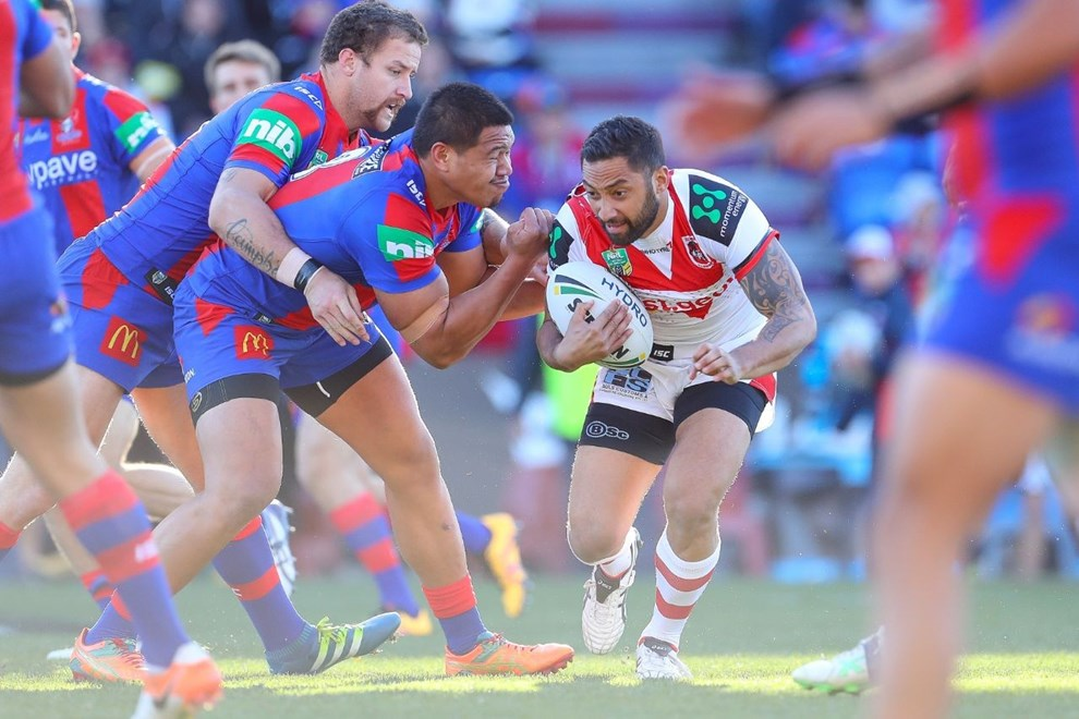 Competition - NRL Premiership Round. Round - Round 14. Teams - St George Dragons v Canterbury Bulldogs. Date - 13th of June 2016. Venue - ANZ Stadium, Olympic Park NSW. Photographer - Paul Barkley.