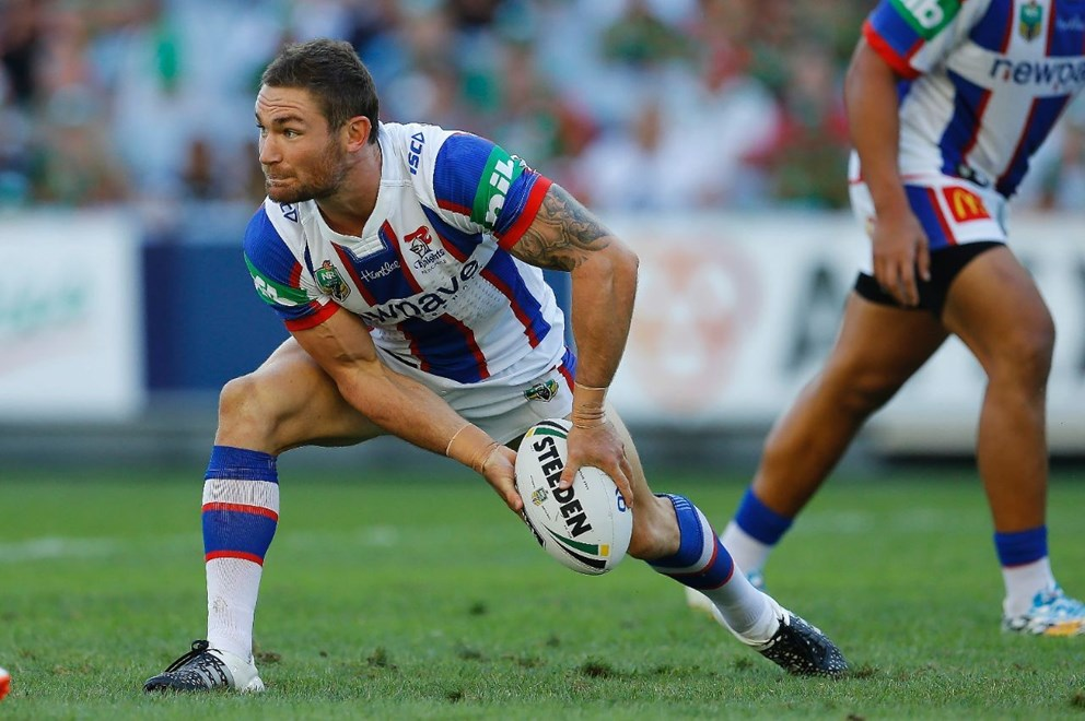 Tyler Randell Competition - NRL Premiership Round - Round 02 Teams - South Sydney Rabbitohs V Newcastle Knights Date - 12th of March 2016 Venue - ANZ Stadium, Homebush, Sydney NSW Photographer - Paul Barkley