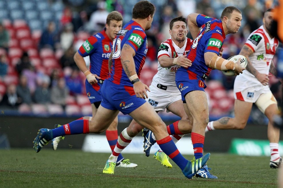 Competition - NRL Round 15 - Newcastle Knights v St. George Illawarra Dragons - Saturday 24 June 2016, Hunter Stadium Broadmeadow NSW - Photographer Shane Myers © nrlphotos.com