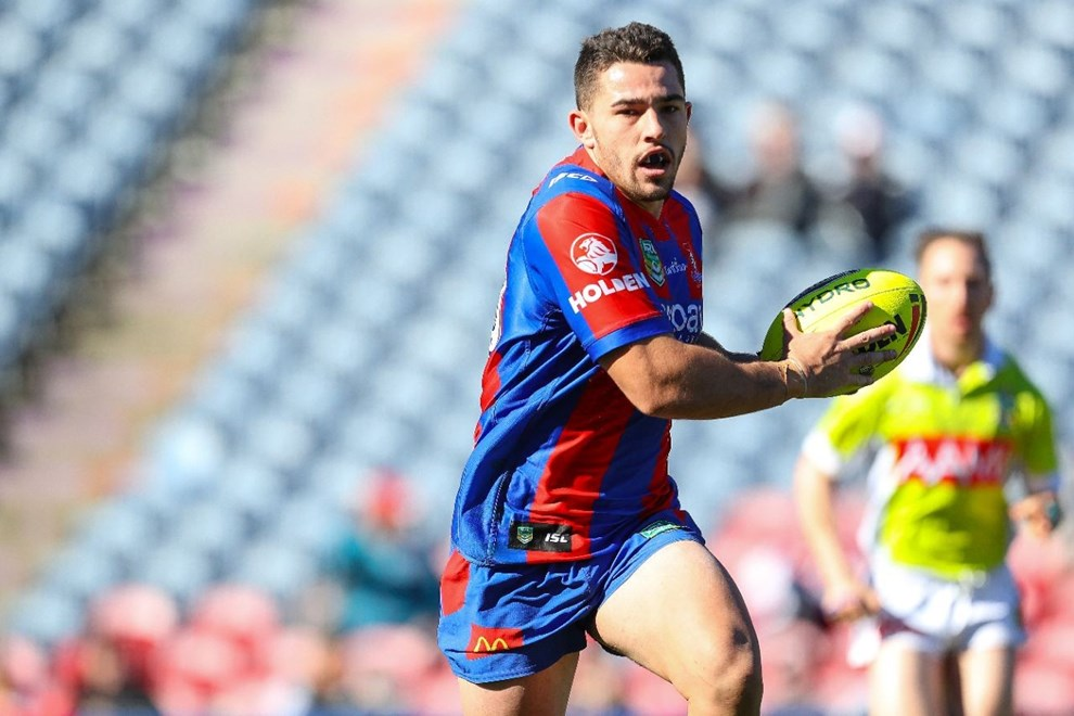 Competition - Intrust Super Premiership. Round - Round 16. Teams - Newcastle Knights v St George Dragons. Date - 25th of June 2016. Venue - Hunter Stadium, Broadmeadow NSW. Photographer - Paul Barkley.