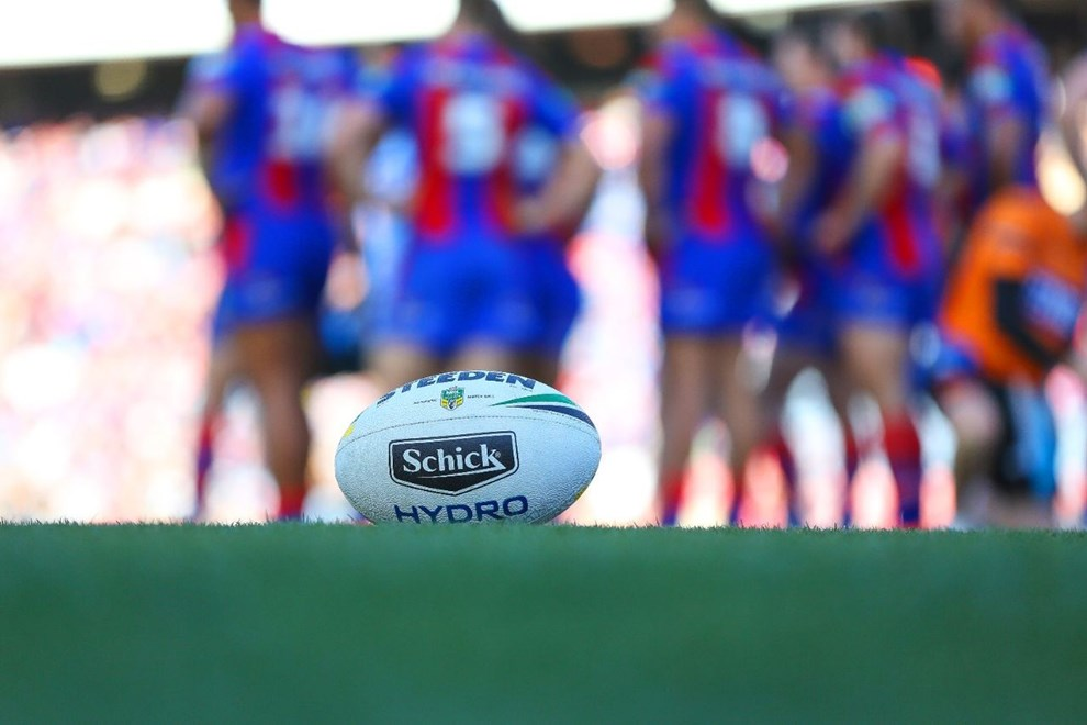 Competition - NRL Premiership Round. Round - Round 23. Teams - Newcastle Knights v Penrith Panthers. Date - 14th of August 2016. Venue - Hunter Stadium, Broadmeadow, NSW. Photographer - Paul Barkley.