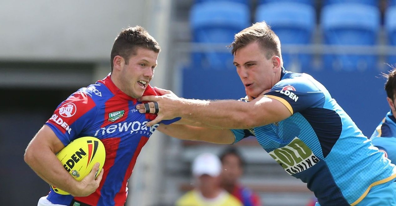 Competition - Holden Cup NYC Round - Round 01 Teams – Gold Coast Titans v Newcastle Knights Date – 6th March 2016 Venue – Cbus Stadium, Robina, Gold Coast QLD Photographer – Charles Knight Description –