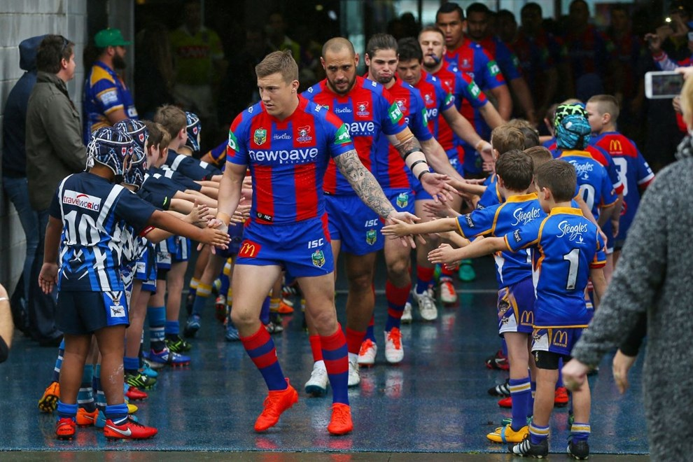 Competition - NRL Premiership Round. Round - Round 22. Teams - Newcastle Knights v Newtown Jets. Date - 6th of August 2016. Venue - Hunter Stadium, Broadmeadow, NSW. Photographer - Paul Barkley.