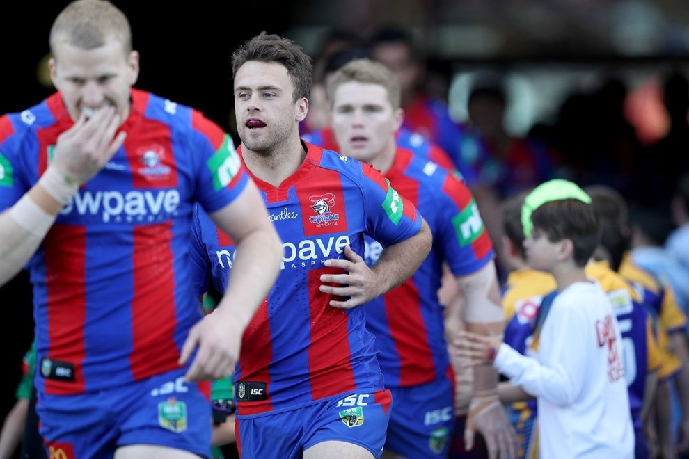 Competition - NRL Premiership Round 24 Newcastle Knights v Gold Coast Titans - Saturday 20 August 2016, Hunter Stadium Broadmeadow NSW - Photographer Shane Myers nrlphotos.com