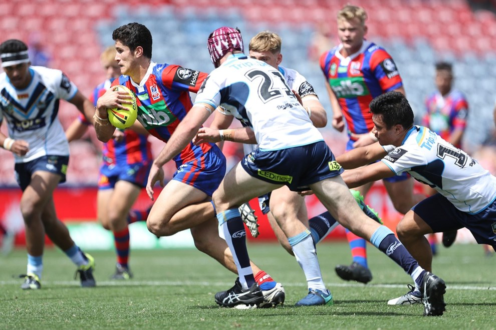 Competition - NYC. Round - Round 2. Teams - Newcastle Knights v Gold Coast Titans. Date - 11th of March 2017. Venue - MacDonald Jones Stadium