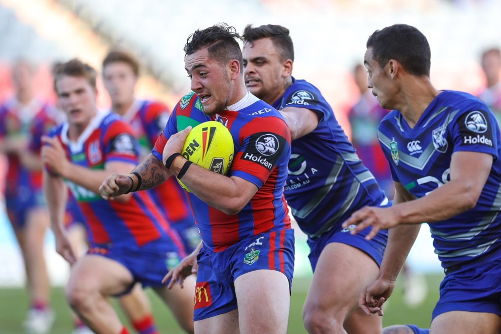 Competition - NYC. Round - Round 6. Teams - Newcastle Knights v Canterbury Bulldogs. Date - 7th of April 2017. Venue - McDonald Jones Stadium